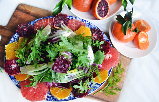 Citrus Winter Greens Salad Recipe