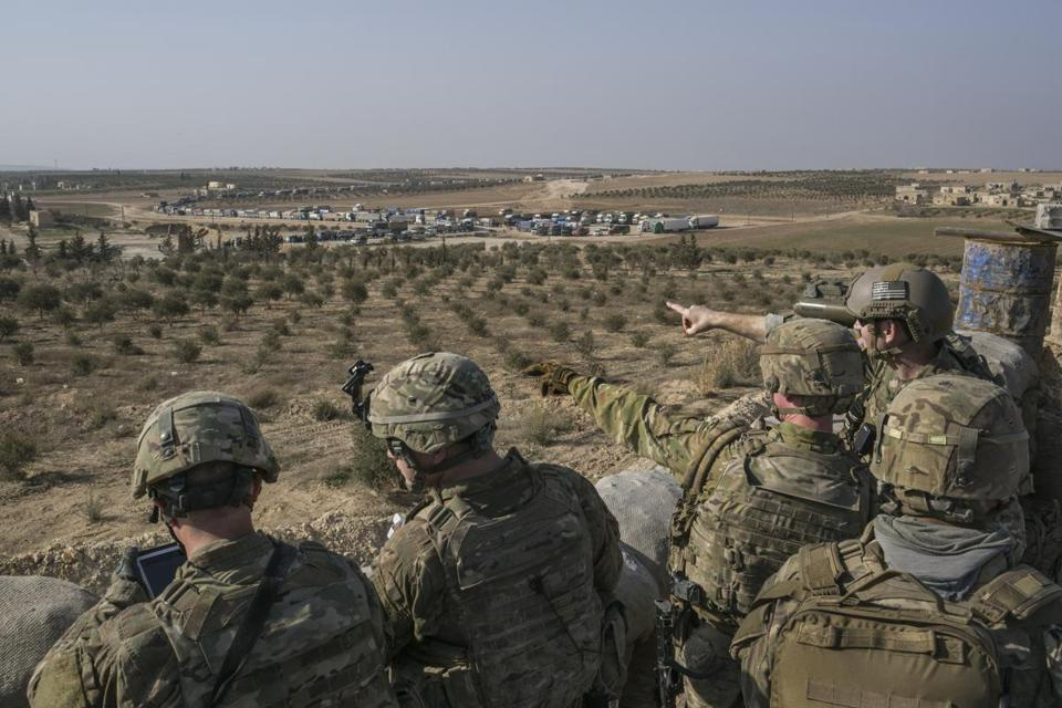 US Special Forces soldiers were stationed at a front-line outpost near Manbij Syria last week