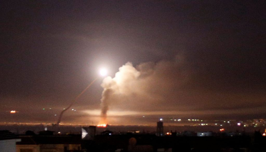 Missile fire from Damascus Syria