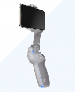 Its angled grip helps make the DJI Osmo 3 easy to hold
