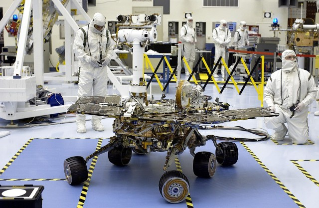 The Opportunity rover, on Earth back in 2003