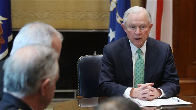US Attorney General Jeff Sessions meets with Police Chiefs from major cities of the Chiefs of Police Association at the Justice Department