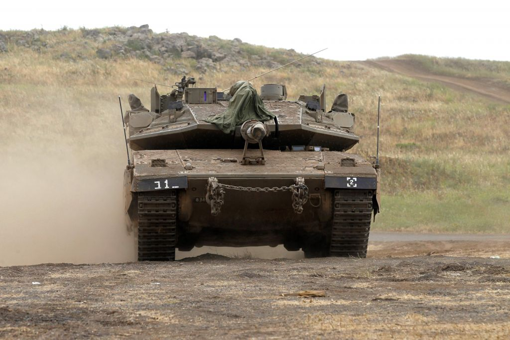 Israelis in the Golan Heights near the Syrian border were instructed to prepare air-raid shelters