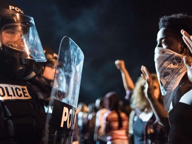 A pacific criticism in Charlotte fast incited ugly. Picture: Sean Rayford/Getty Images/AFP